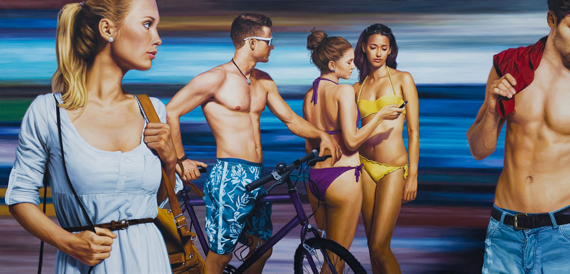 Models in Bademoden von Christopher Corso