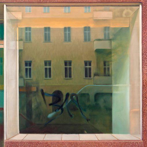 Spiegelung im Fenster von Jürgen Durner