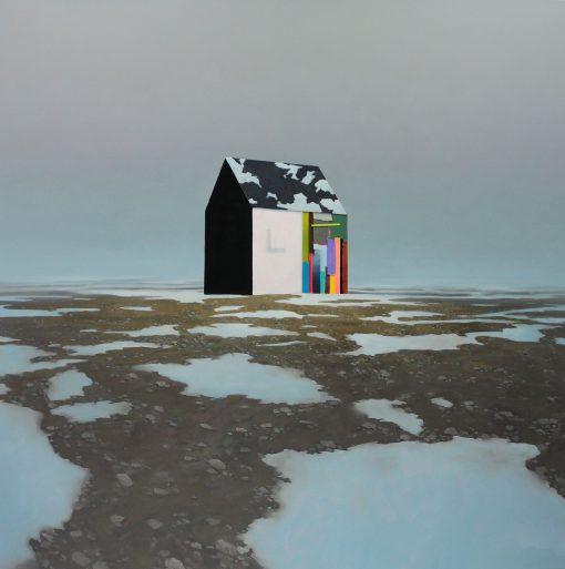 Haus im Eis von Gerhard Rießbeck