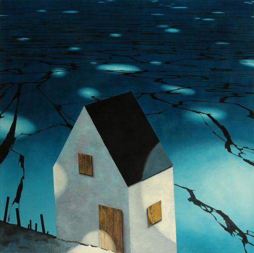 Haus in der Nacht von Gerhard Rießbeck