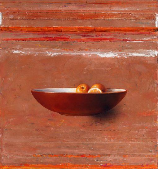 Orangen in brauner Schale