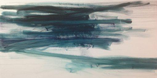 abstrakte Ölmalerei von Paul Saroglou