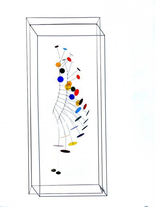 bunte Glasskulptur von Rosali Schweizer
