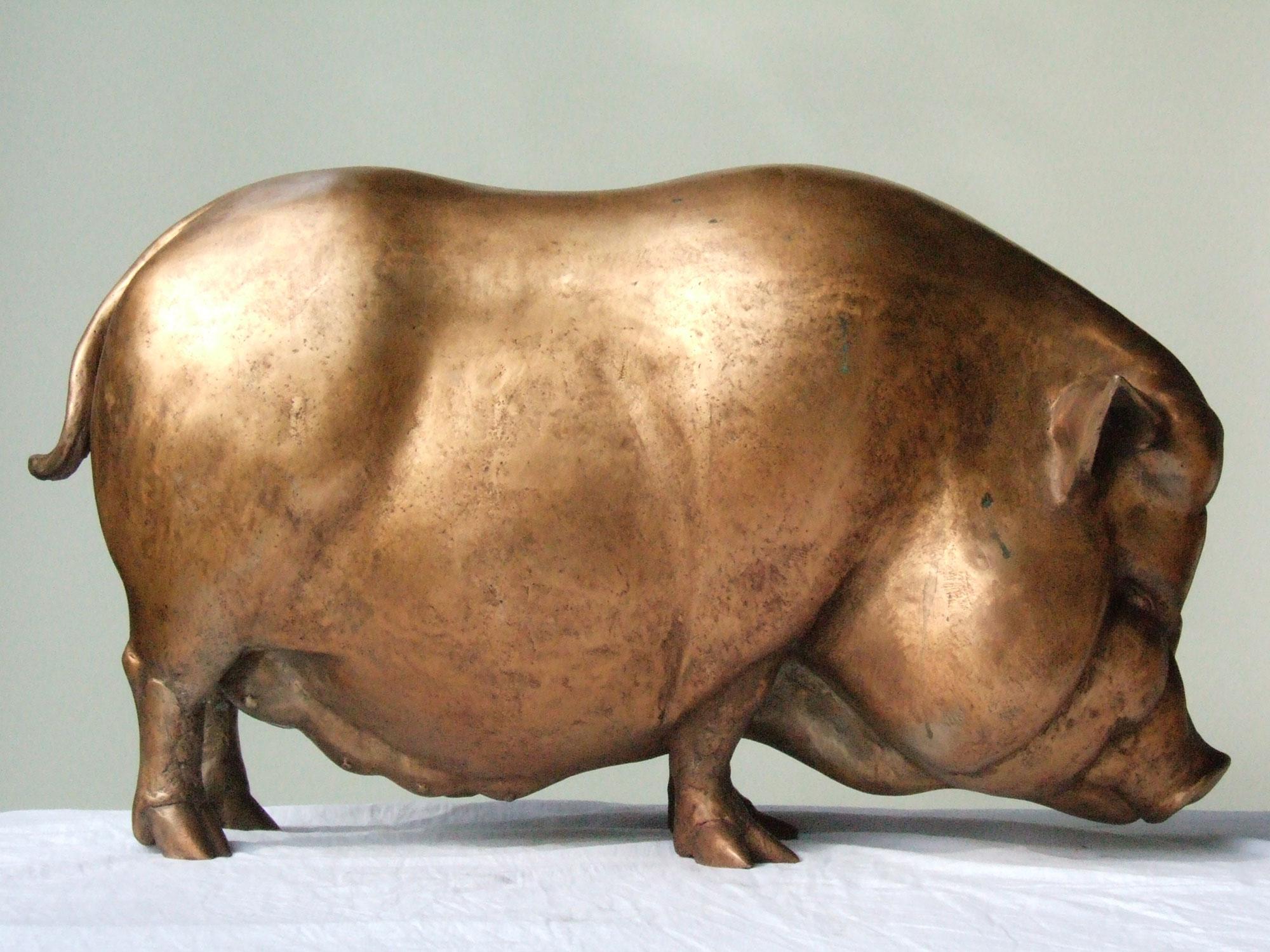 Schwein als Plastik von Susanne Beurer