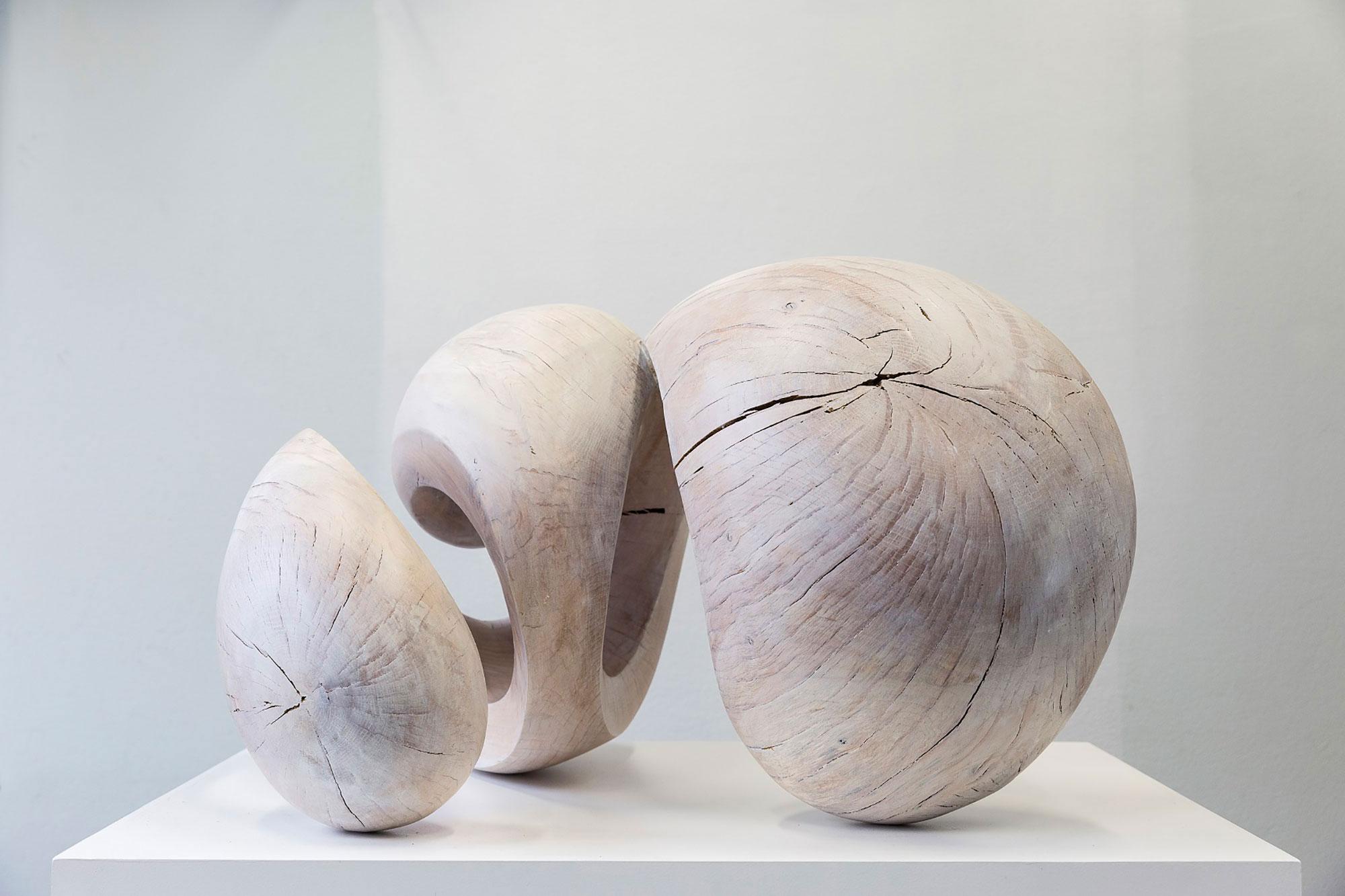 Eichenholzskulptur von Yves Rasch