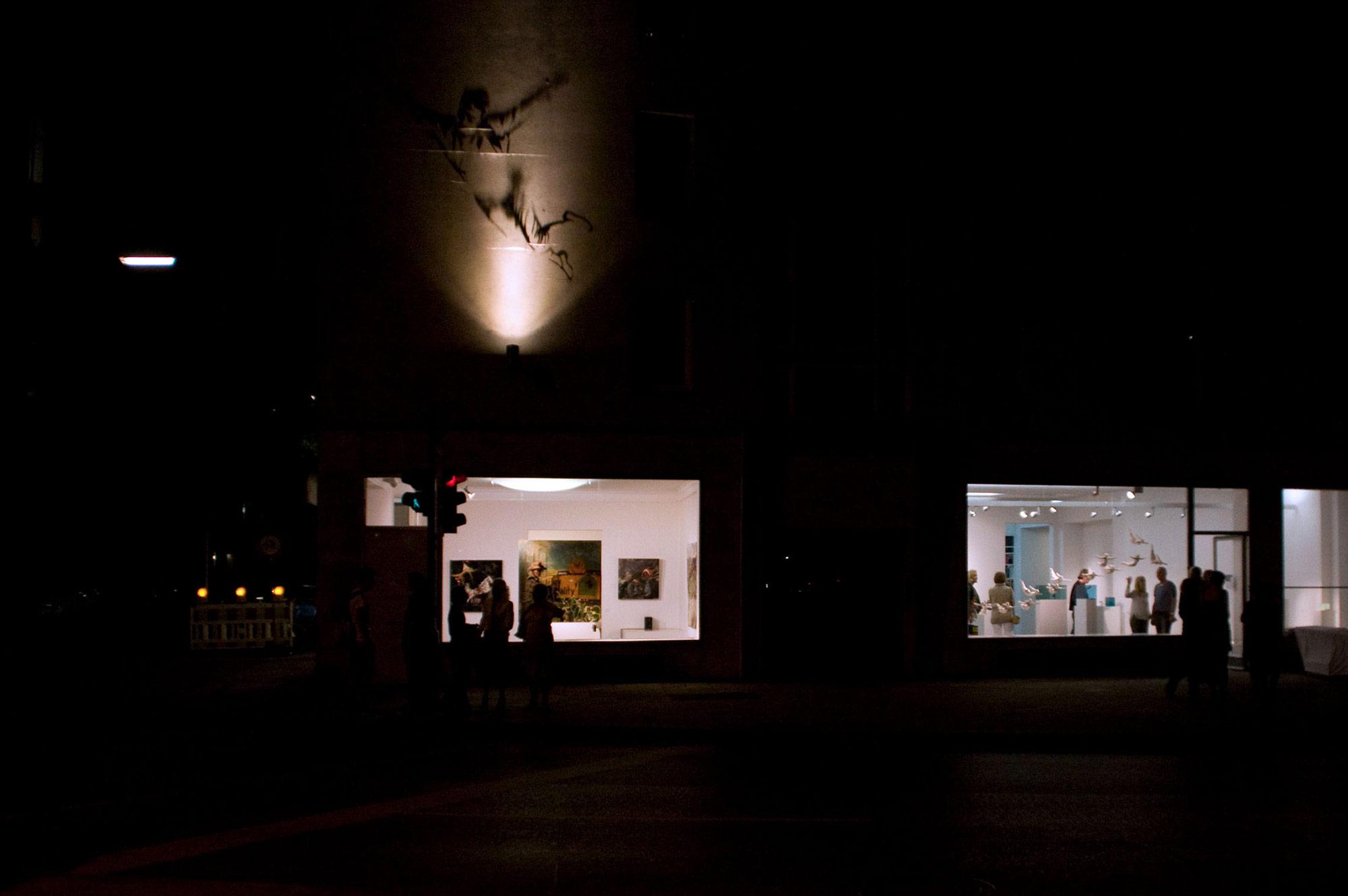Skulpturenraum und Raum 01 der Galerie