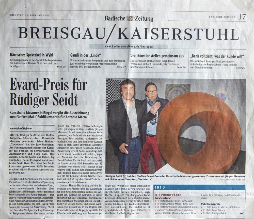 Artikel über Rüdiger Seidt