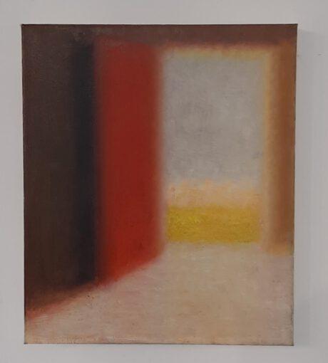 Kunstwerk von Robert Bosisio eines abstrakten Raumes