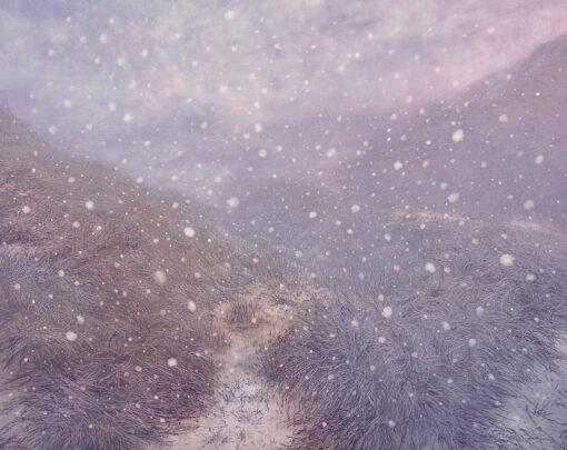 Schneelandschaft eines chinesischen Malers