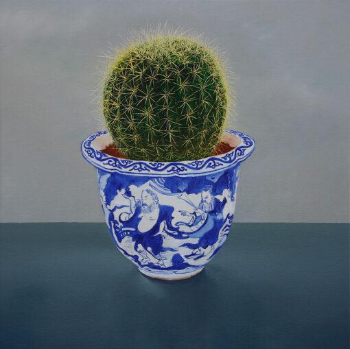 Malerei eines Kaktus in einer Vase