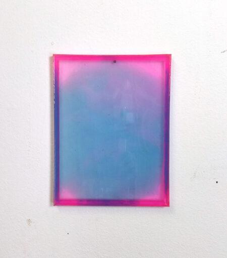 irrisierende Farbverläufe aus blau, pink