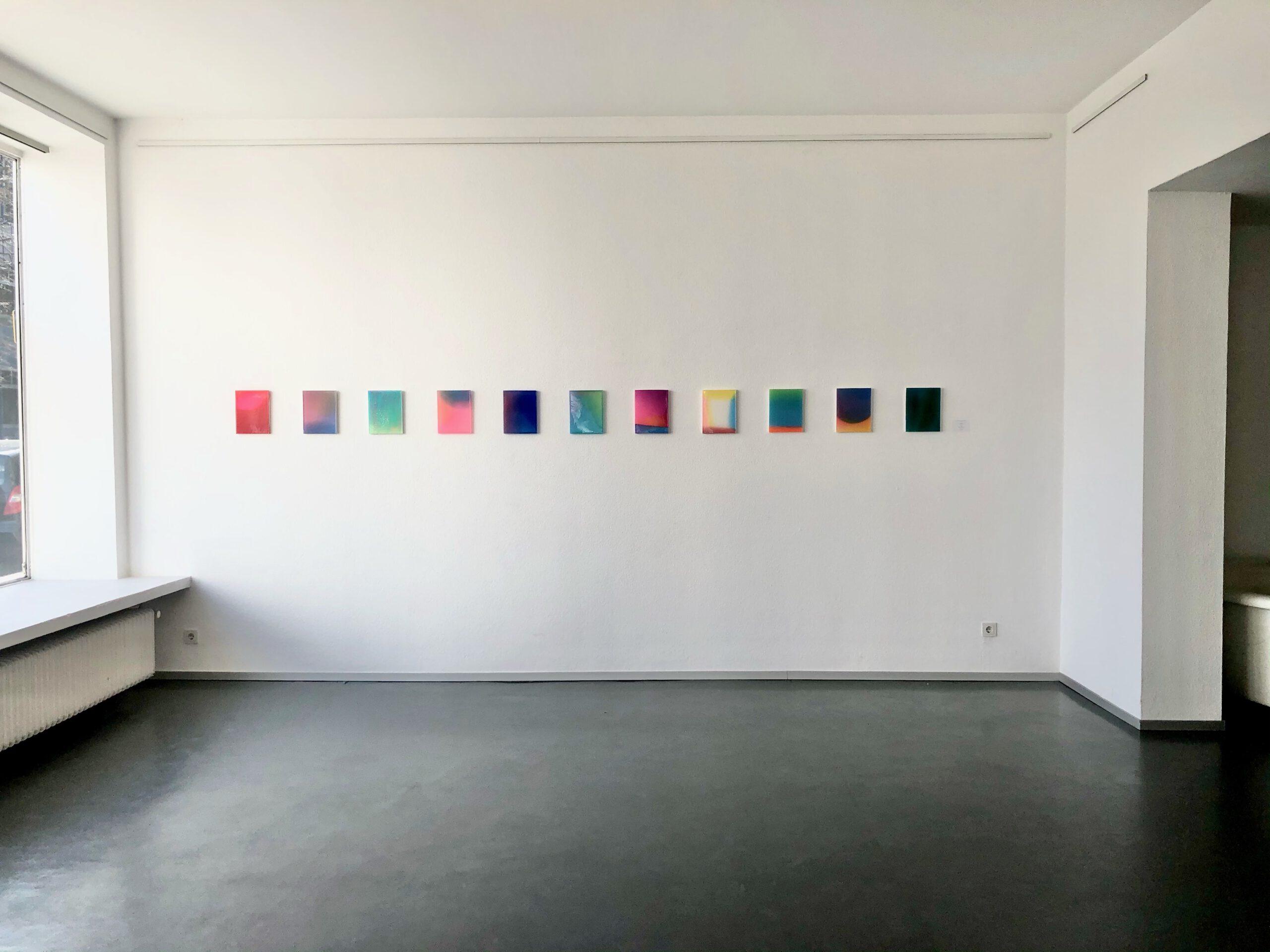 Ausstellungsansicht Julia Burek in der Galerie Ruetz